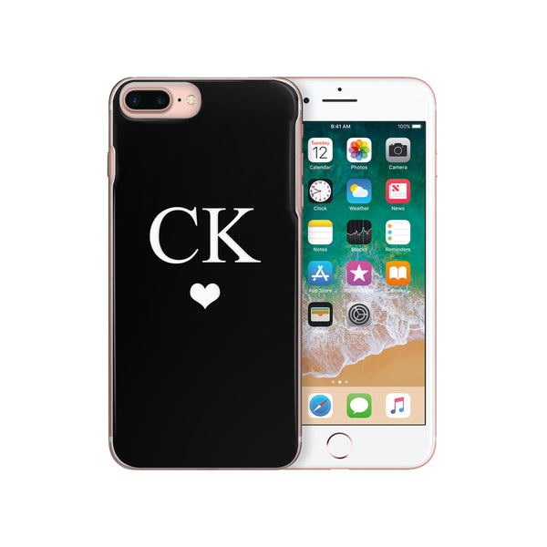 Personalised Monogram iPhone Case Black Heart - Case&Co.