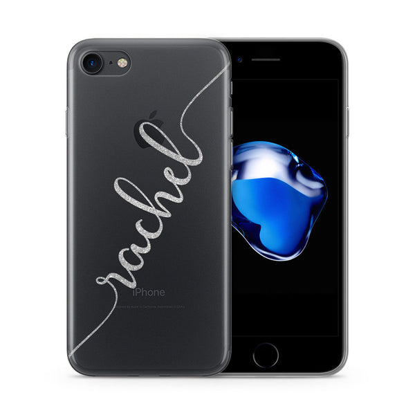Personalised Name Custom Printed iPhone Case Silver - Case&Co.