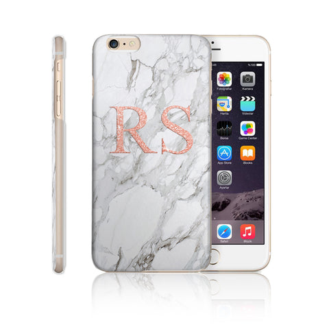 Personalised Initial Monogram Phone Case Marble Pink - Case&Co.