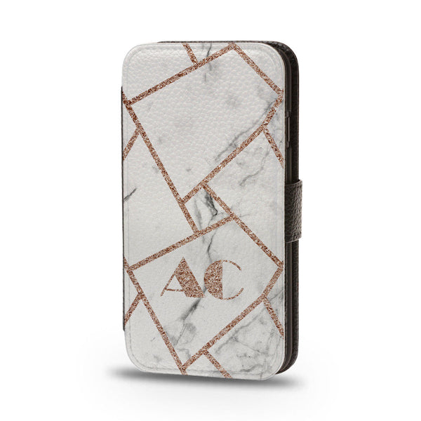 Personalised Flip Phone Case Marble Initial - Case&Co.