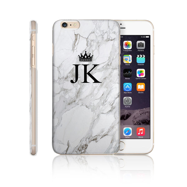 Personalised Initial Monogram Phone Case Marble Crown - Case&Co.