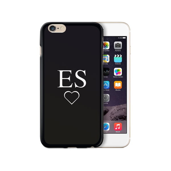 Personalised Monogram Initials iPhone Case Gel Black - Case&Co.
