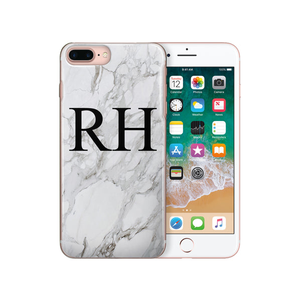 Personalised Initial Monogram iPhone Case Marble - Case&Co.