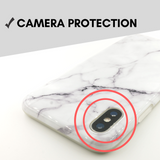 White Marble iPhone Case - Case&Co.