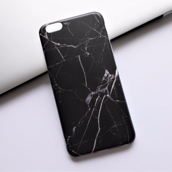 Marble iPhone Case Black - Case&Co.