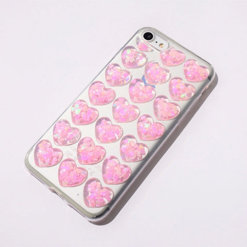 3D iPhone Case - Hearts - Case&Co.