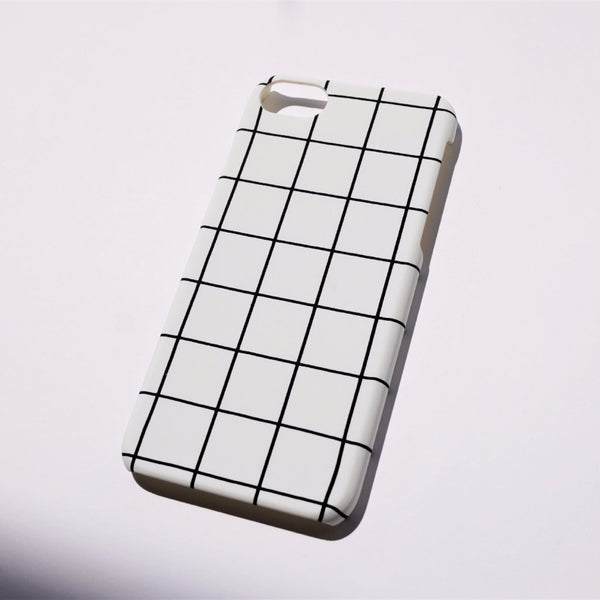 Grid iPhone Case White - Case&Co.