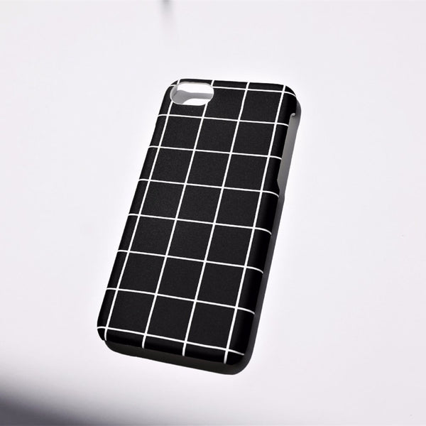 Grid iPhone Case Black - Case&Co.