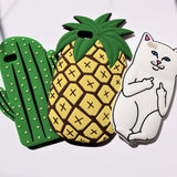 3D iPhone Case - Middle Finger Cat - Case&Co.