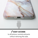 Violet Marble iPhone Case - Case&Co.