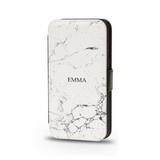 Flip Phone Cases White Marble - Case&Co.