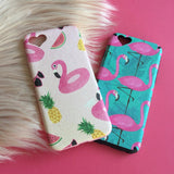 Flamingo iPhone Case Blue - Case&Co.