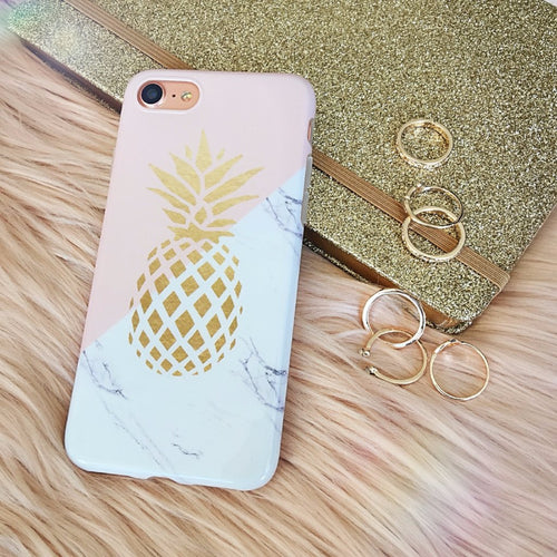 Marble Case Gold Pineapple
