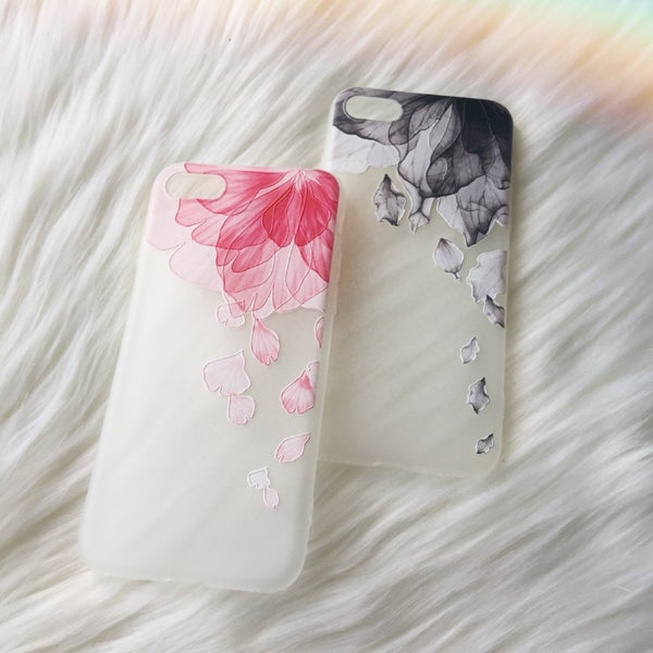 Floral iPhone Case - Falling Black - Case&Co.
