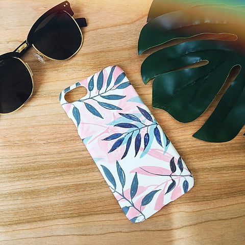 Tropical Leaves Case - Pink - Case&Co.
