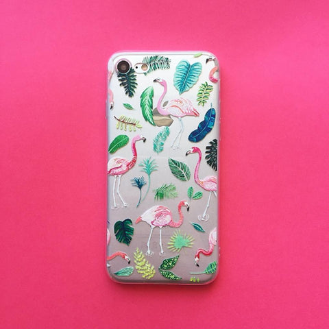Flamingo iPhone Case Summer Leaves - Case&Co.