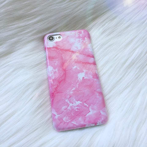 Marble iPhone Case - Glossy Pink - Case&Co.