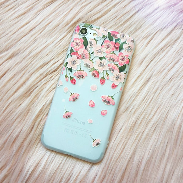 Floral iPhone Case Rain - Case&Co.