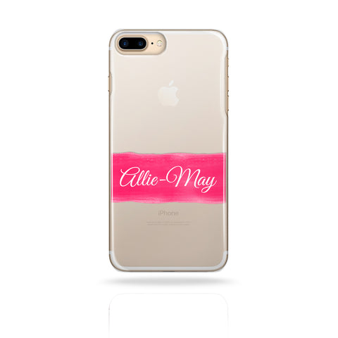 Personalised Custom Name Phone Case Pink Stripe - Case&Co.