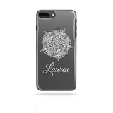 Personalised Name Printed Phone Case White Flower - Case&Co.
