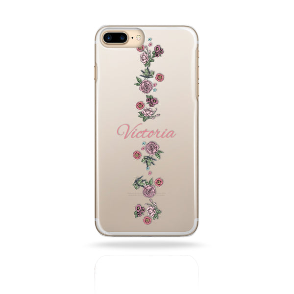 Personalised Name Printed Phone Case Flower Rose - Case&Co.