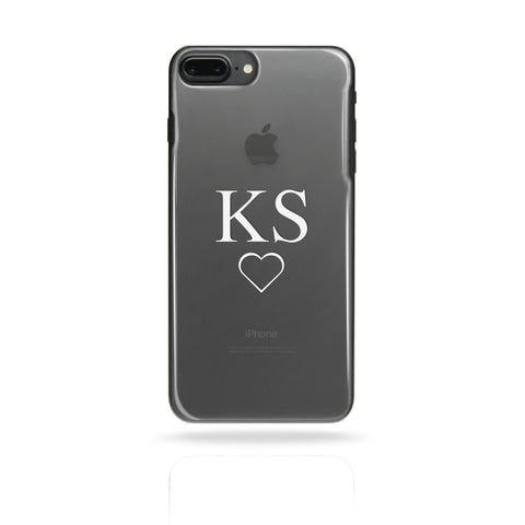 Personalised Custom Initial Monogram Phone Case White - Case&Co.