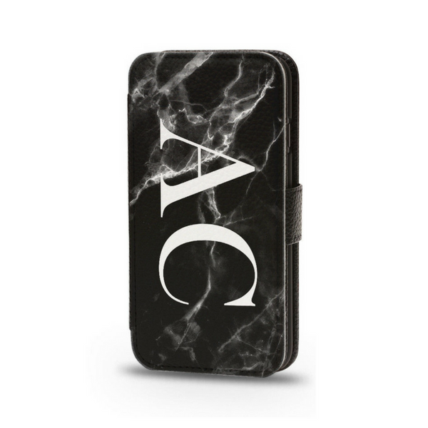 Personalised Flip Phone Cases Black Initial - Case&Co.