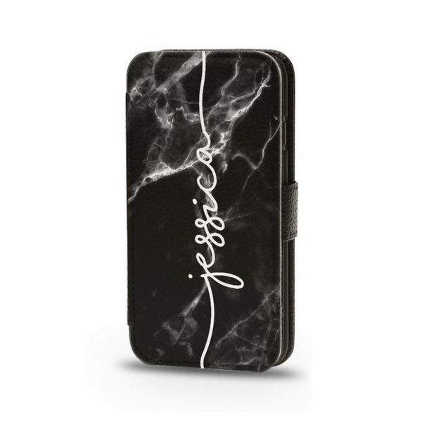 Personalised Flip Phone Case Black Marble - Case&Co.