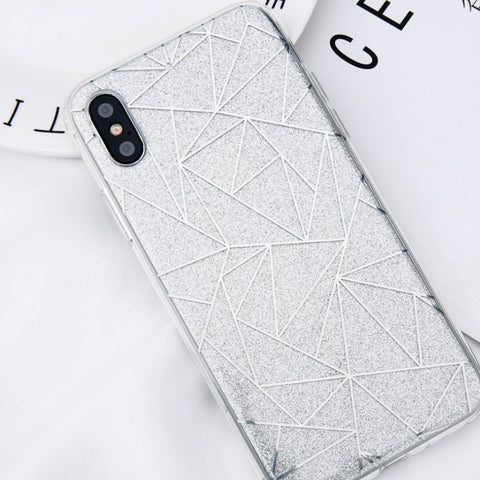 Glitter iPhone Case Silver - Case&Co.