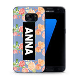 Personalised Phone Case Floral Name Blue - Case&Co.