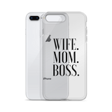 Wife Mom Boss iPhone Cases & Cover - Case&Co.