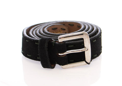 Black Leather Logo Belt - Vivi's Posh Closet