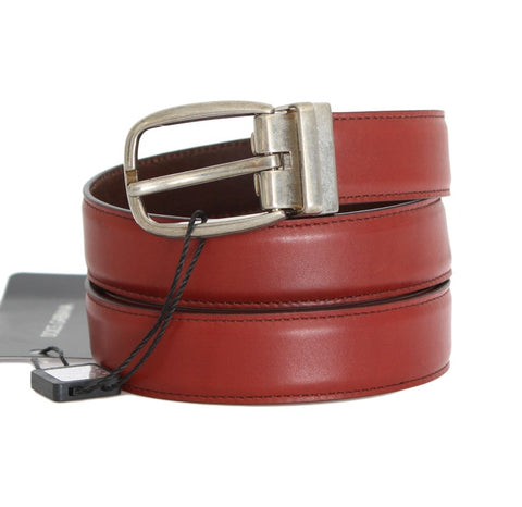Red Leather Gold Buckle Belt - Vivi's Posh Closet