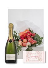 Flowers, Champagne and Chocolate Gift