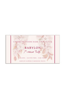 Cherry Blossom Dark Chocolate Block