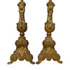 Pair of Gilt Metal Altar Candle Sticks