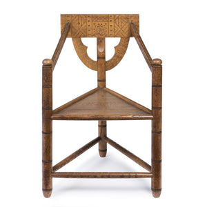 "Late 19th Century Arts & Crafts Oak ""Turners"" Chair"