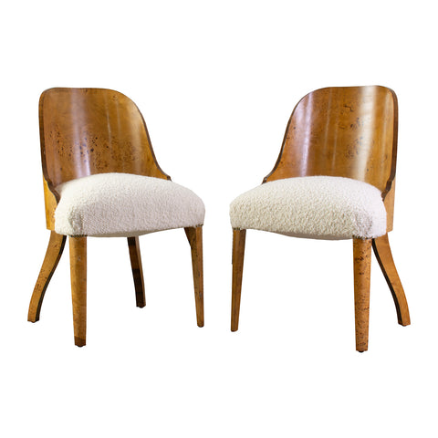 A Set of 6 Art Deco Birch Chairs