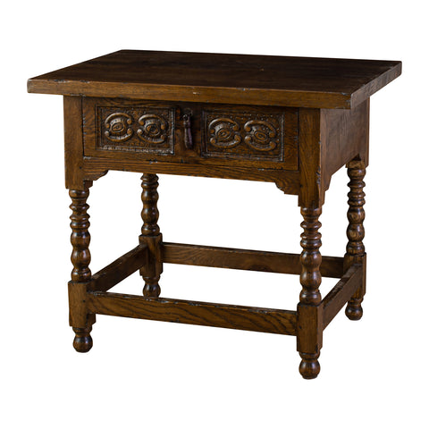18th Century Style Oak Side Table