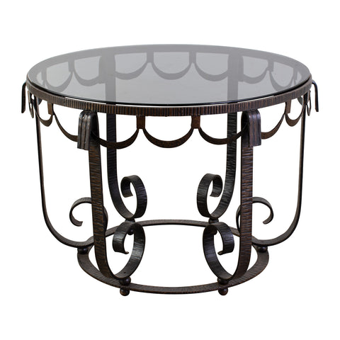 Art Deco Style Wrought Iron Occasional Table