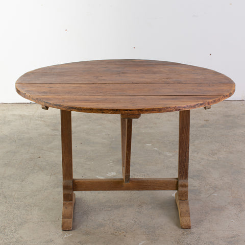 19th Century Fruitwood Vigneron Table