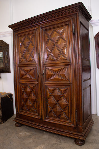 A Large Late 18th Century Louis XIII Style Armoire