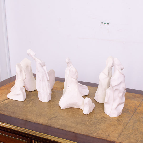 Set of 7 French Plaster Sculptures