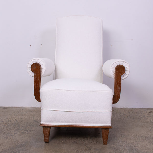 French 1940s Armchair in the manner of Charles Dudouyt