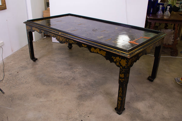 Large Chinese Style Lacquered Dining/Library Table