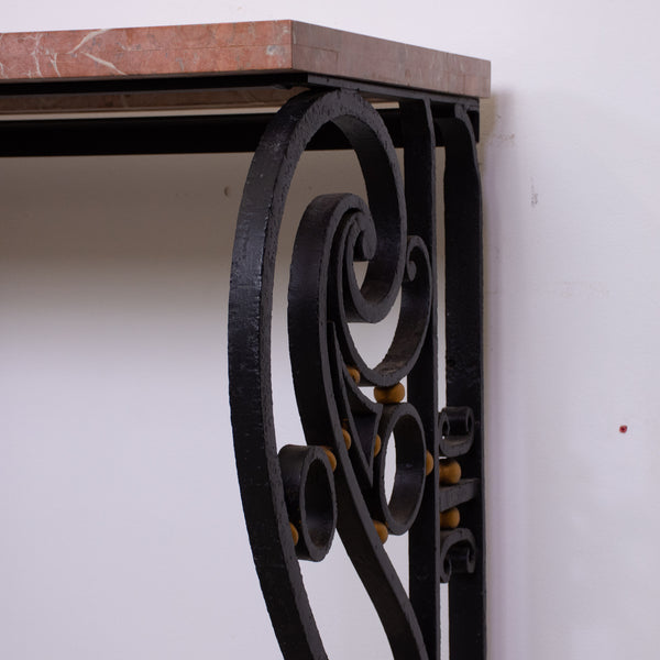 Art Deco Style Wrought Iron Console Table