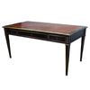 A Vintage Louis XVI Style Ebonised and Brass Mounted Bureau Plat