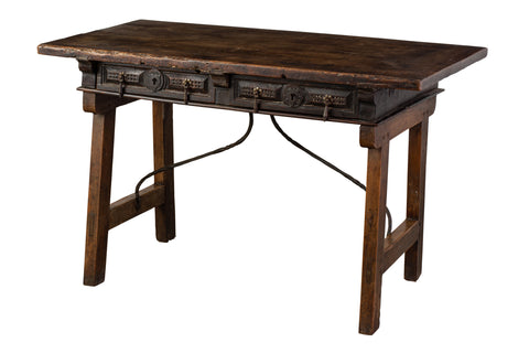 Late 17th Century Spanish Walnut Console Table