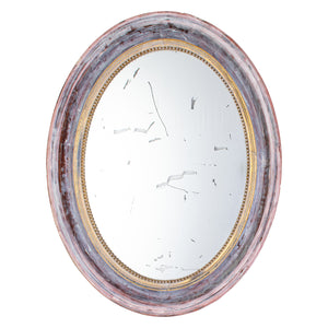 19th Century French Oval Gilt-Geso Mirror
