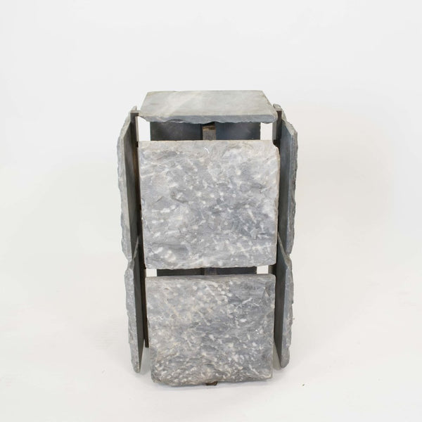 Hand Hewn Marble Side Table/Pedestal